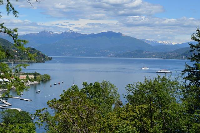 Lake Maggiore from Villa Taranto, walking in the Italian Lakes