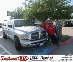 #HappyAnniversary to Robert Lacey on your 2005 #Dodge Truck #Ram 1500 from Kathy Parks at Southwest KIA Rockwall!