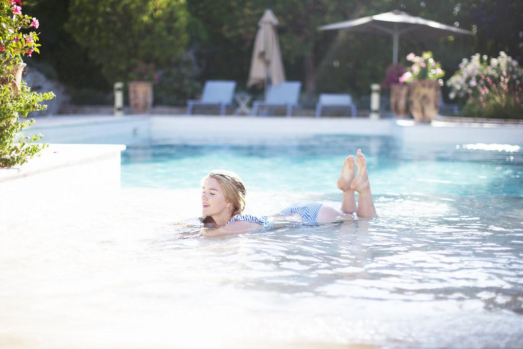 swimming in Provence at La Domaine de Majeons