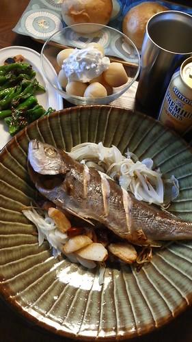 真鯛の赤とうがらし風味 by nekotano