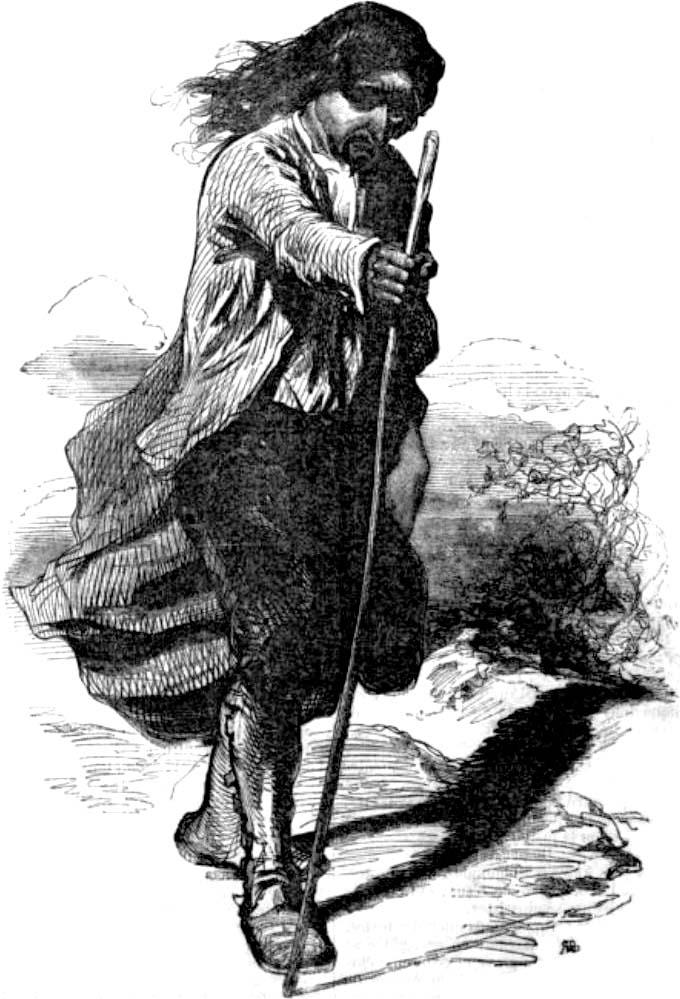 Jean-Adolphe Beaucé pour Eugène Sue, Le Juif errant, 1844 des Œuvres illustrées d'Eugène Sue, vol. 3, illustré par J. A. Beaucé, G. Staal, Paris, s.n., 1850