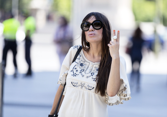 street style barbara crespo sheinside 70s dress fashion blogger outfit blog de moda
