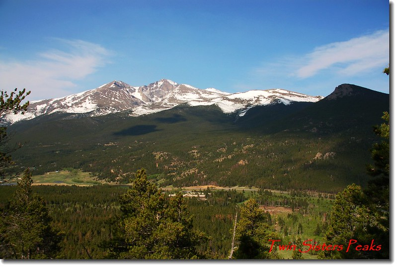 Twin Sister 步道遠眺Longs Peak and Mount Meeker 1