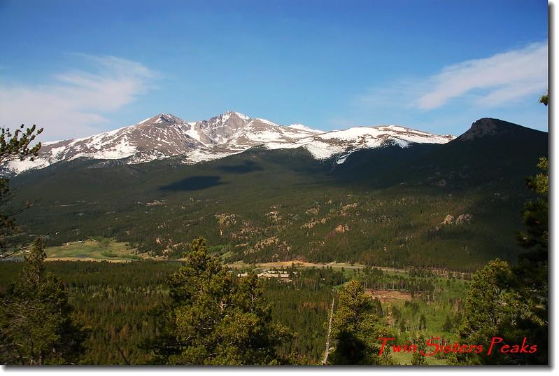 Twin Sister 步道遠眺Longs Peak and Mount Meeker 1