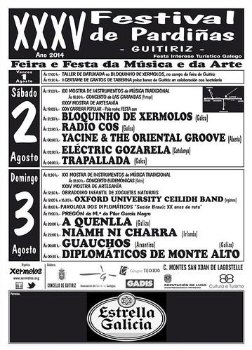 Guitiriz 2014 - XXV Festival de Pardiñas - cartel