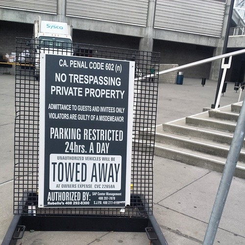 No trespassing.  Has this sign always been here?