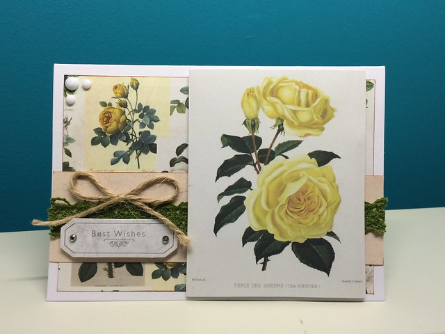 Botanicals yellow rose card