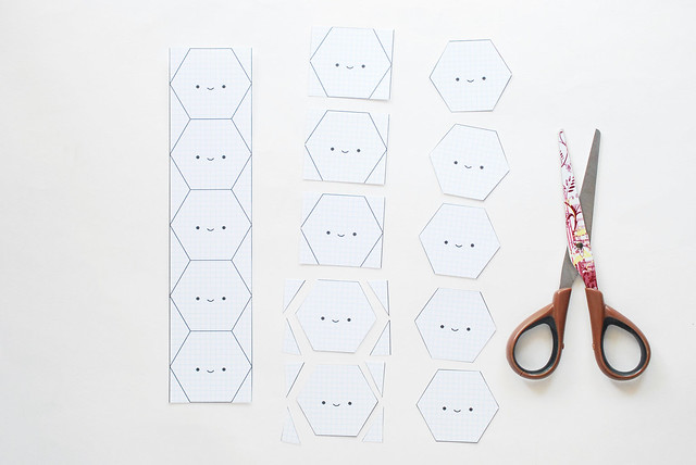 Number Names Worksheets hexagon printable template : Wild Olive: printable // happy hexagon EPP templates