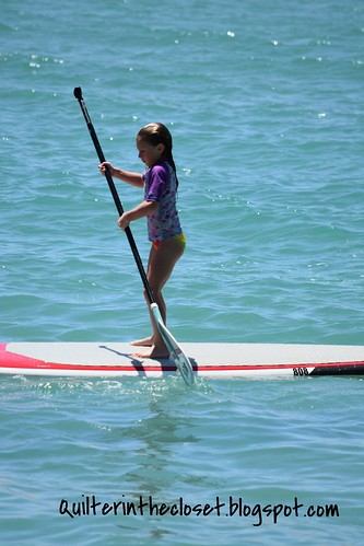 Ashley paddle boarding