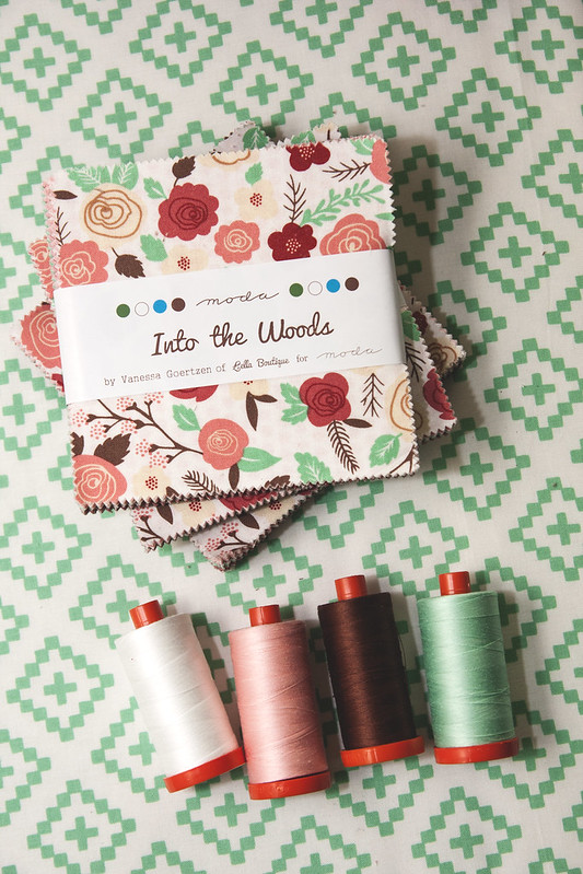 Into the Woods & matching Aurifil