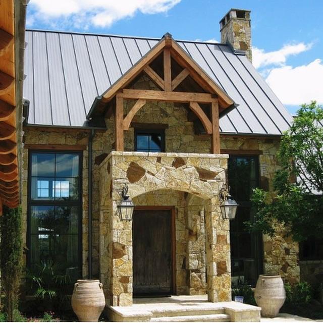 Texas regional design, front door landscaping