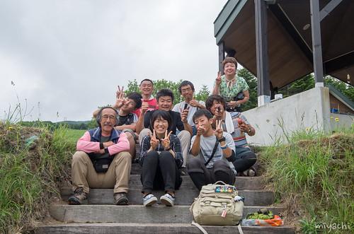 【82日目】素足で雪渓!釣りと神輿(北海道)