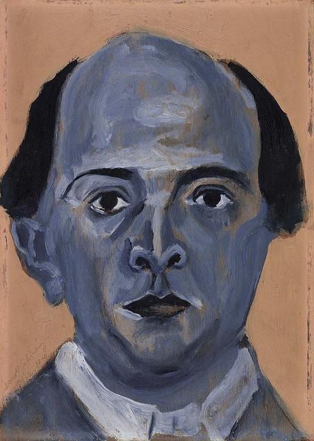 Blaues Selbstportrait, 1910, by Arnold Schoenberg © Arnold Schönberg Center