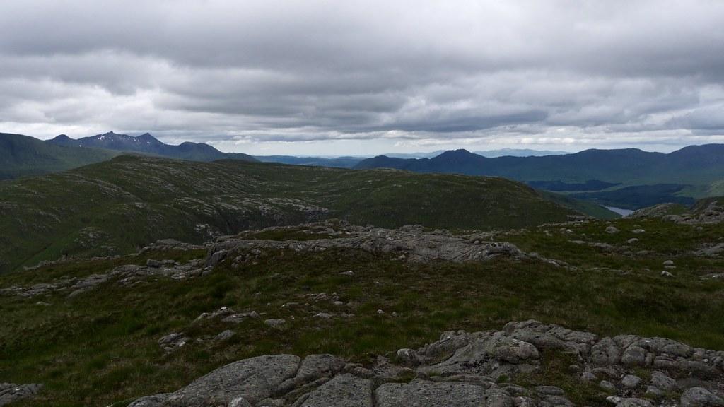 Towards Ben Cruachan from Beinn nan Aighenan