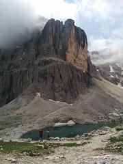 Blick auf Pisciadùsee, Pisciadù Klettersteig