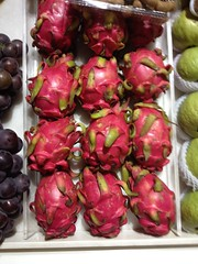 My first meeting with dragon fruit.