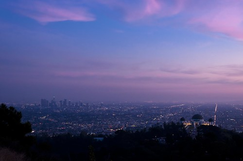 california sunset skyline clouds landscape losangeles cityscape ngc nightsky griffithpark observitory