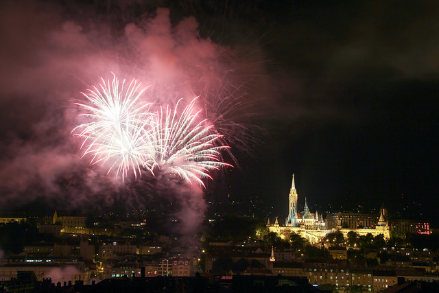 Fireworks Show in Budapest on St. Stephen's Day 2014 August 20. - 9