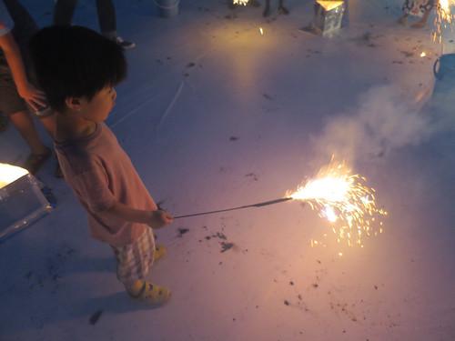 小さな花火大会