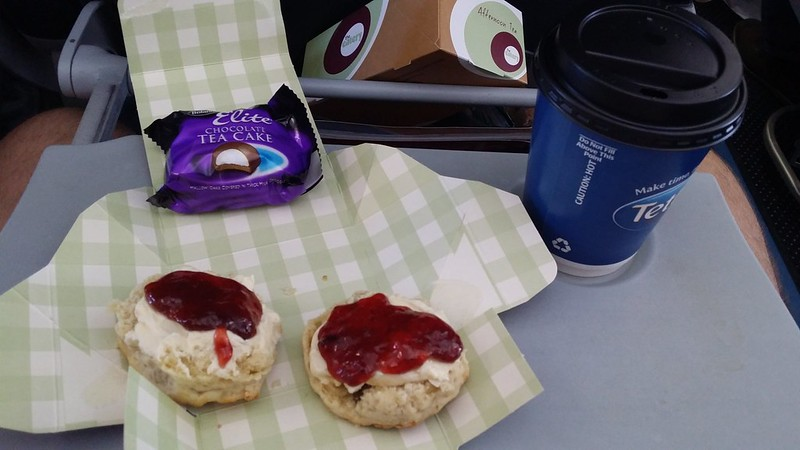 A cream tea on the plane