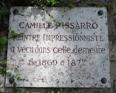 Photo of Camille Pissarro marble plaque