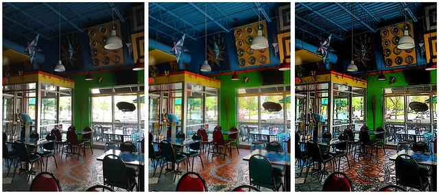 Normal > vividHDR-Dramatic > Center photo plus ToonCamera (twice)