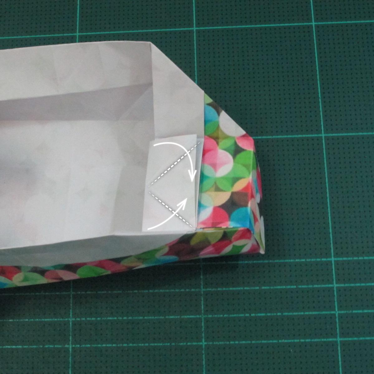 วิธีพับกล่องของขวัญแบบมีฝาปิด (Origami Present Box With Lid) 025