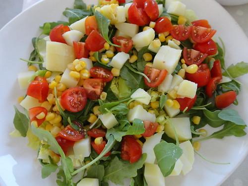 Salade compos e crudit s et tomme de savoie fourchettes et pinceaux - Salade verte composee ...