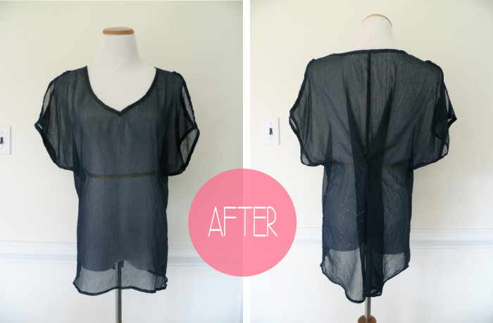 Simple Shirt Refashion after