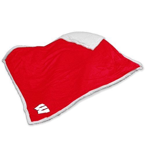Wisconsin Badgers NCAA Sherpa Blanket