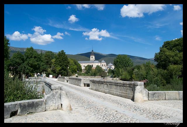 Monasterio de El Paular desde Puente del Perdón