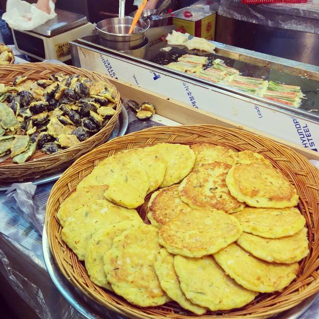 Korean market food