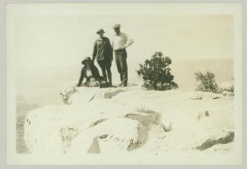Three on a mountain