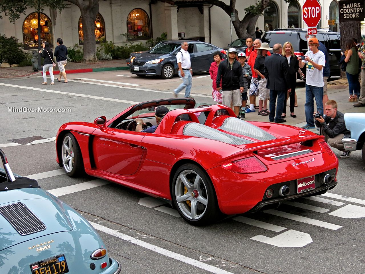 Porsche Carrera GT in Carmel rear