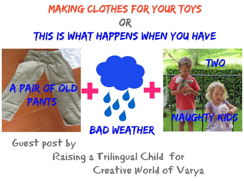 Making clothes for toys
