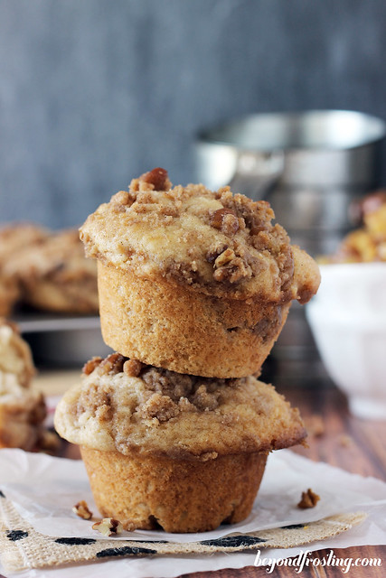 Bakery Style Brown Butter Apple Pie Muffins - Beyond Frosting