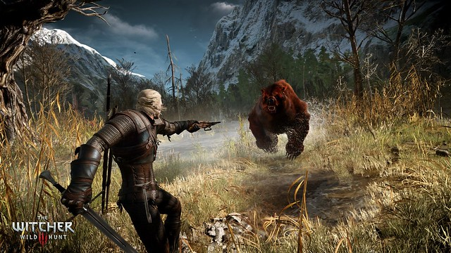 The_Witcher_3_Wild_Hunt_Geralt_shooting_his_crossbow