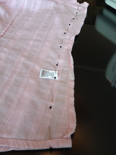 Pink Blouse - In Progress
