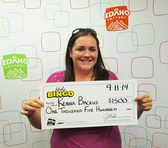 Kenna Backus - $1,500 Idaho Bingo