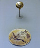 Minoan golden signet ring with Griffin & Goddess