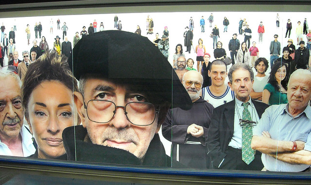 "NAPOLI BENI CULTURALI: We still have alot to offer to the world!!! ""Razza umana = Human race,"" by Oliviero Toscani (2013), in: The ""Montecalvario"" Subway Station Naples, Italy, Foto di Carl 