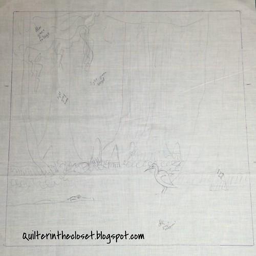 design for Louisiana mini quilt