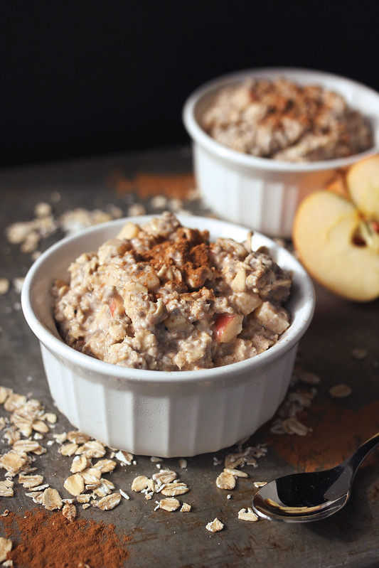 apple cinnamon overnight oats gluten free and vegan tasty yummies. Black Bedroom Furniture Sets. Home Design Ideas