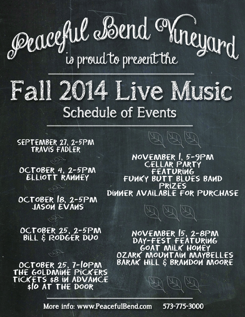 2014 Fall Events Flyer