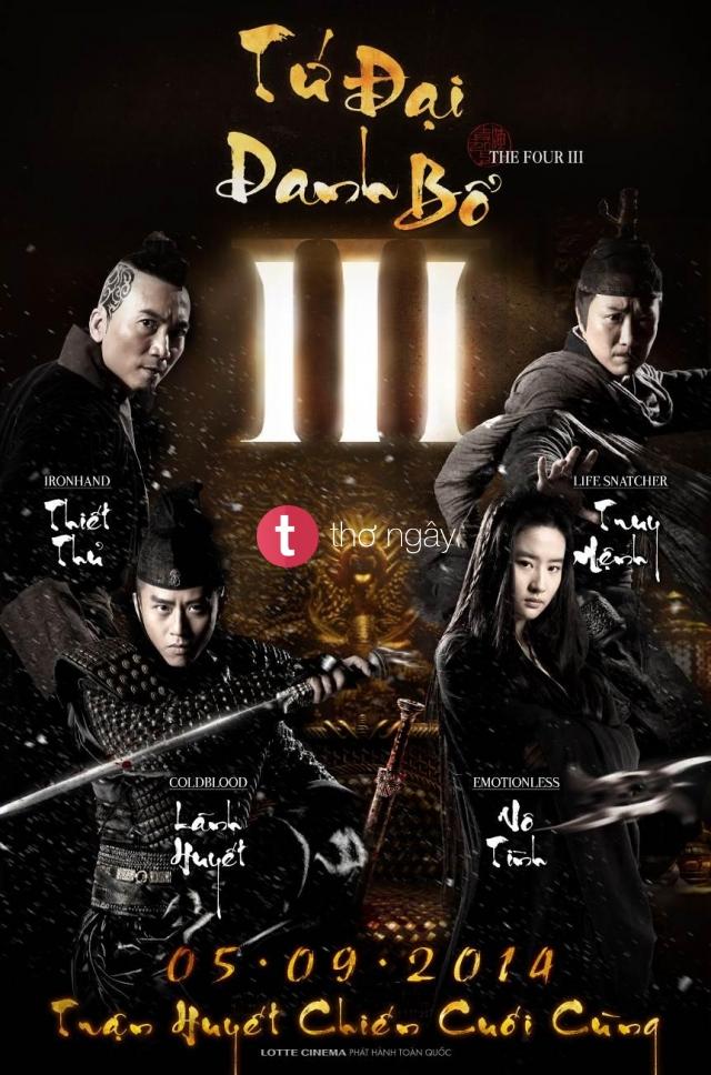 Phim Tứ Đại Danh Bổ 3 - The Four 3
