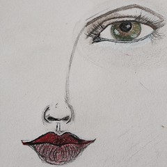 Practice, practice, practicing eyes and lips. #expressyourself #janedavenport #drawing #ilovedrawing