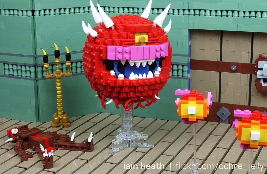 """LEGO DOOM: Cacodemon says """"I am not a Beholder!"""""""