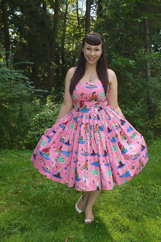 Neverland print dress