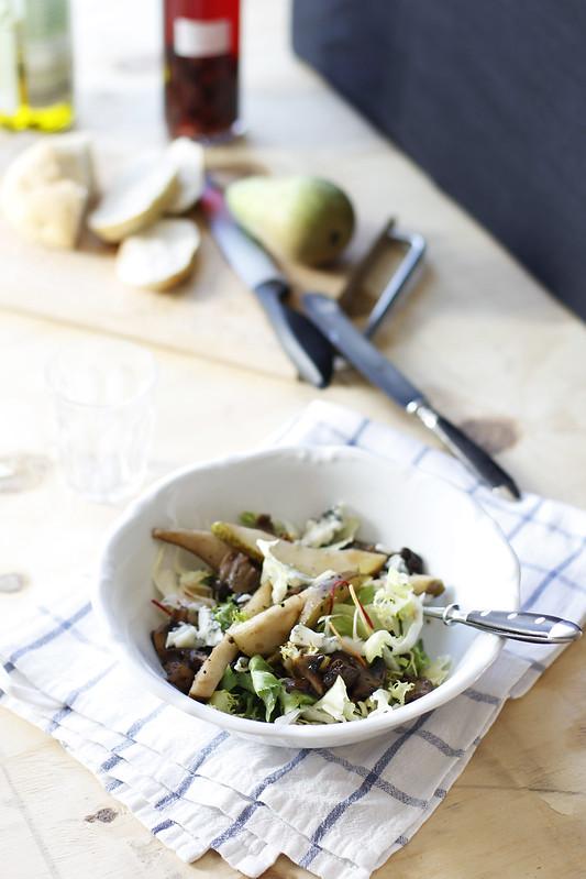_MG_6189Ensalada de invierno, hongos, peras, gorgonzola y nueces