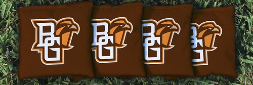 BOWLING GREEN STATE UNIVERSITY FALCONS BROWN CORNHOLE BAGS